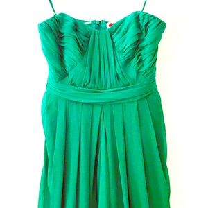 Badgley Mischka Green Strapless Dress